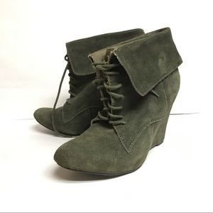 Steve Madden Luxe Dare Bootie, Olive Green, US 9.5